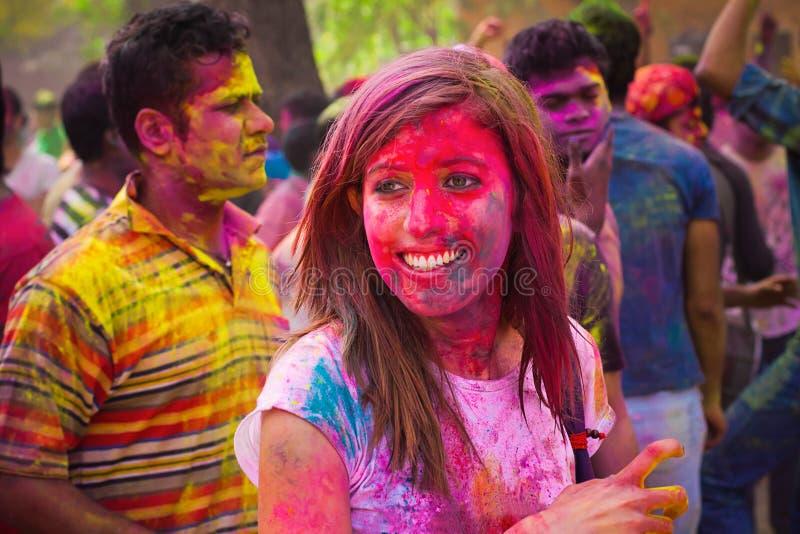 Holi festival royaltyfri foto