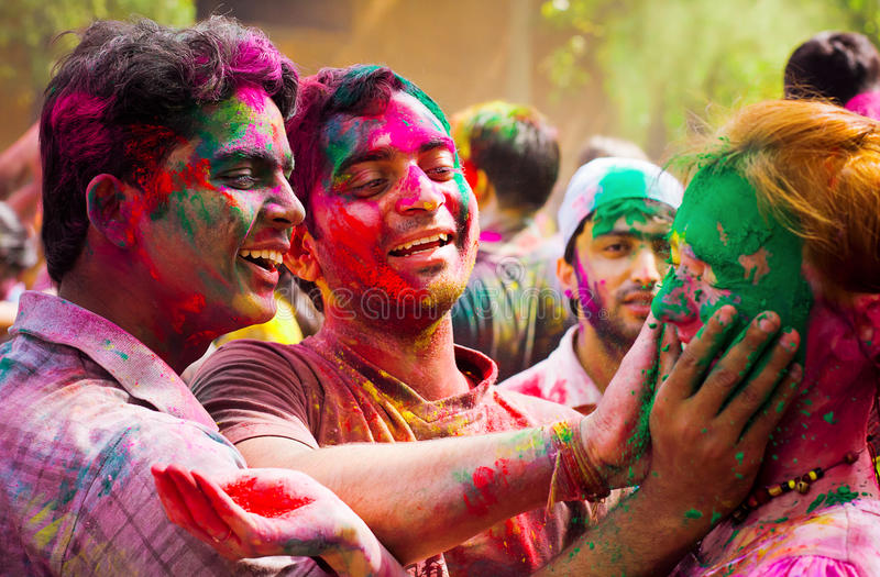 Holi festival royaltyfri fotografi