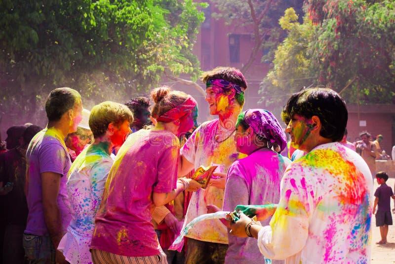 Holi festival royaltyfria bilder