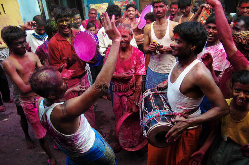 Holi-Festival av färger royaltyfria bilder