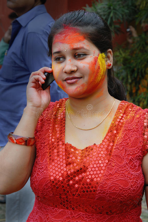 Download Holi Festival of Colours editorial image. Image of beauty - 18844715