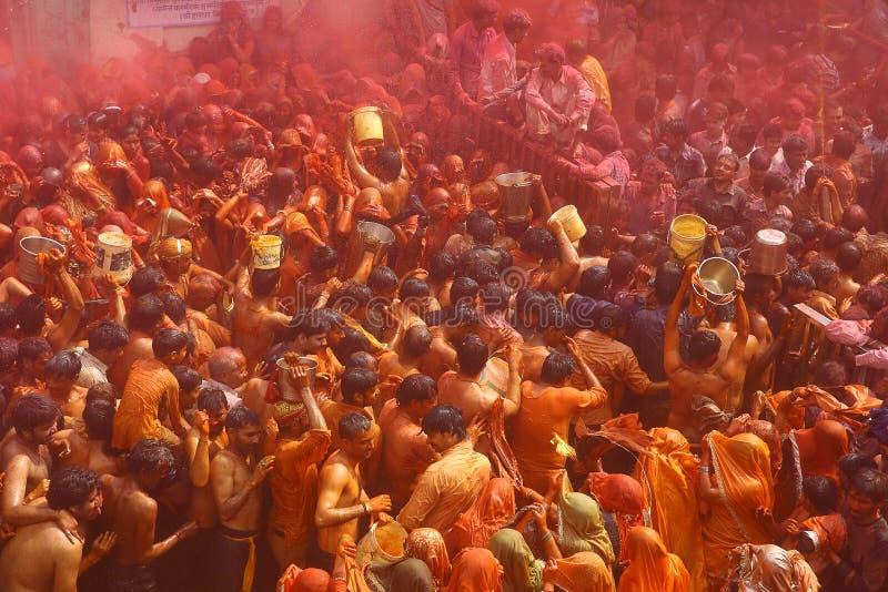 Holi - festival di colore in India fotografia stock libera da diritti