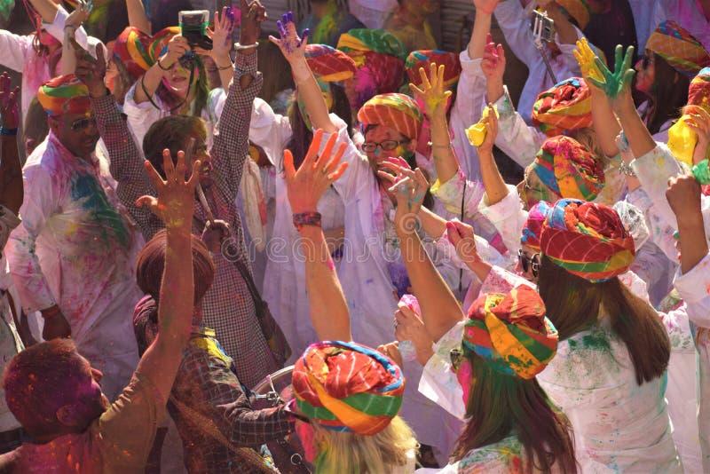 HOLI 'festivalen av färger ', royaltyfria foton