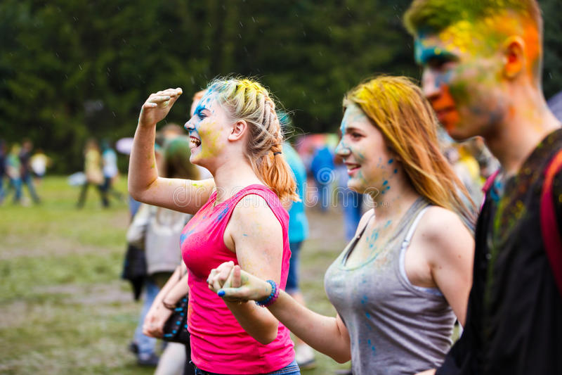 Holi festiwal w Kaliningrad fotografia royalty free