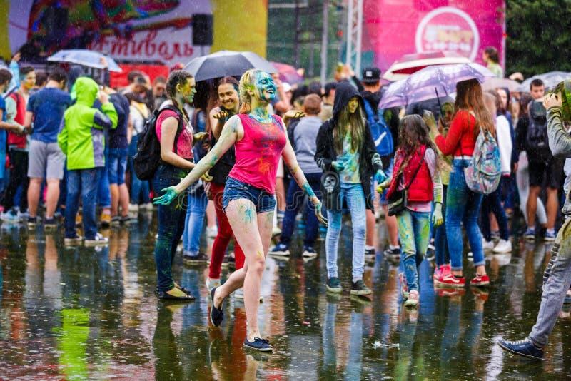 Holi festiwal w Kaliningrad zdjęcie stock