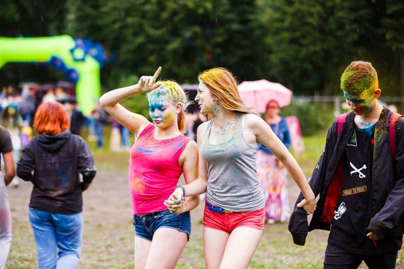 Holi festiwal w Kaliningrad fotografia stock