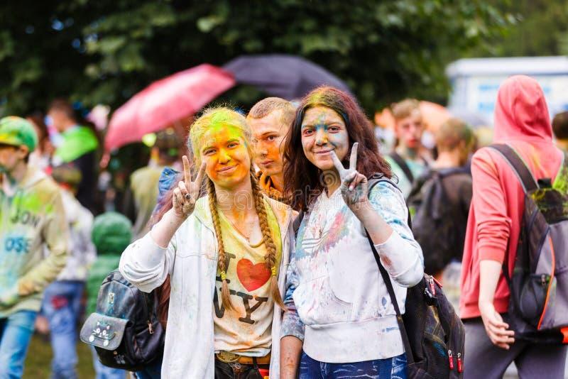 Holi festiwal w Kaliningrad zdjęcia royalty free