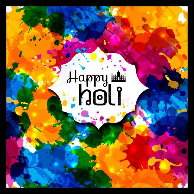 Holi-Frühlingsfest von Farben vector Gestaltungselement und Probe vektor abbildung