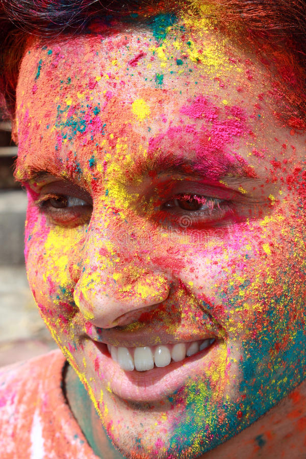 Download Holi Guy stock photo. Image of face, hindu, religious - 19365094