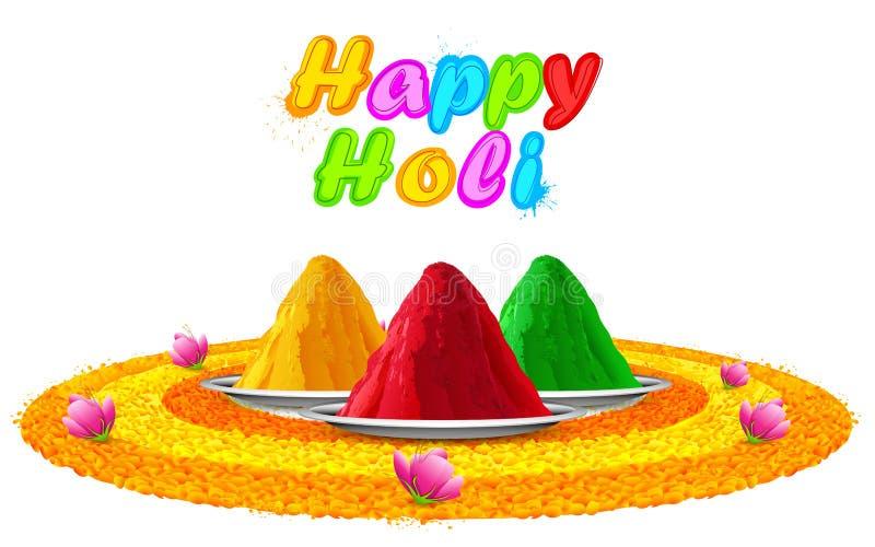 Holi heureux coloré illustration stock