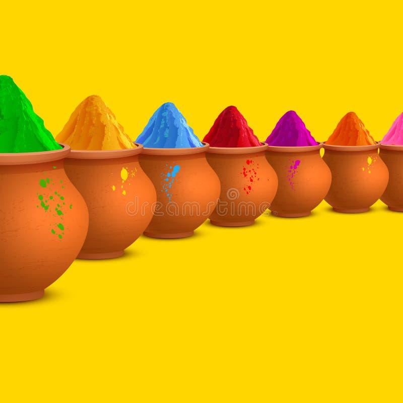 Holi heureux coloré illustration libre de droits