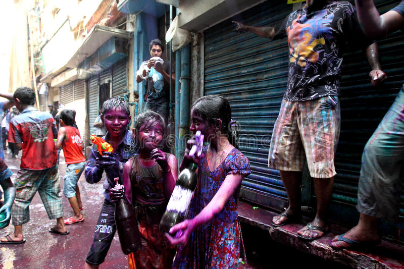 Holi of Hindus festival royalty free stock photo