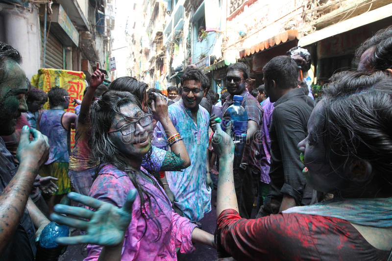Holi of Hindus festival stock images