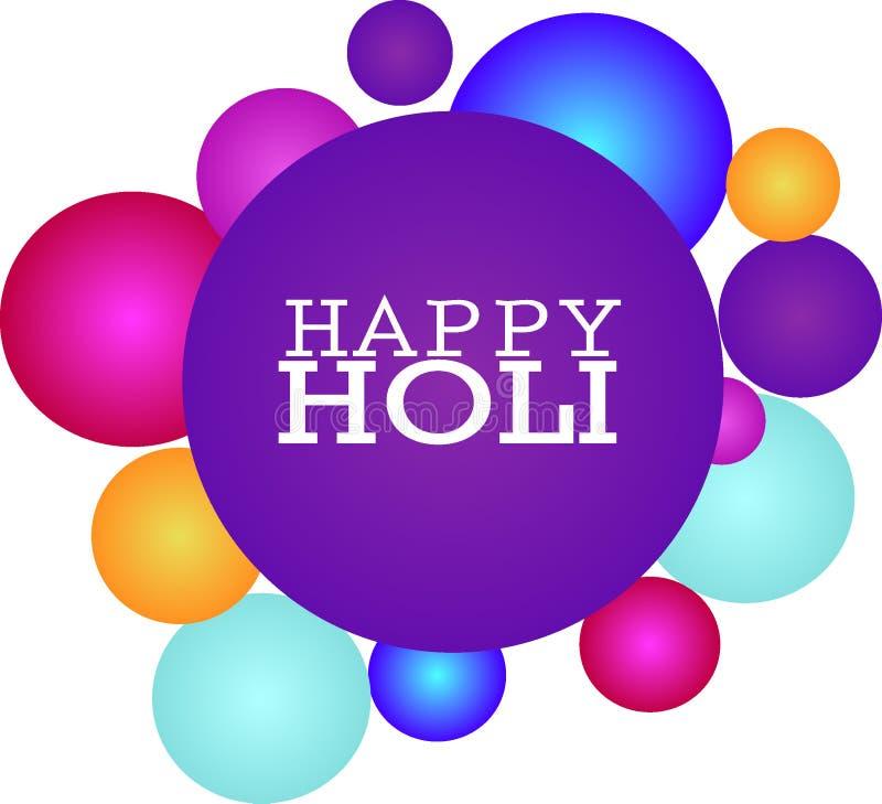 Holi: multi carta di holi di colore illustrazione vettoriale