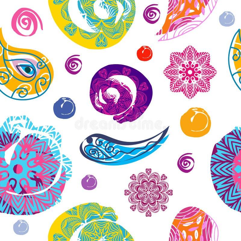 Holi pattern9 stock illustration
