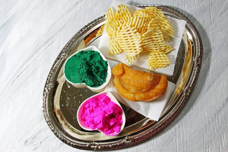Download Holi platter stock photo. Image of deep, holi, north - 88246714