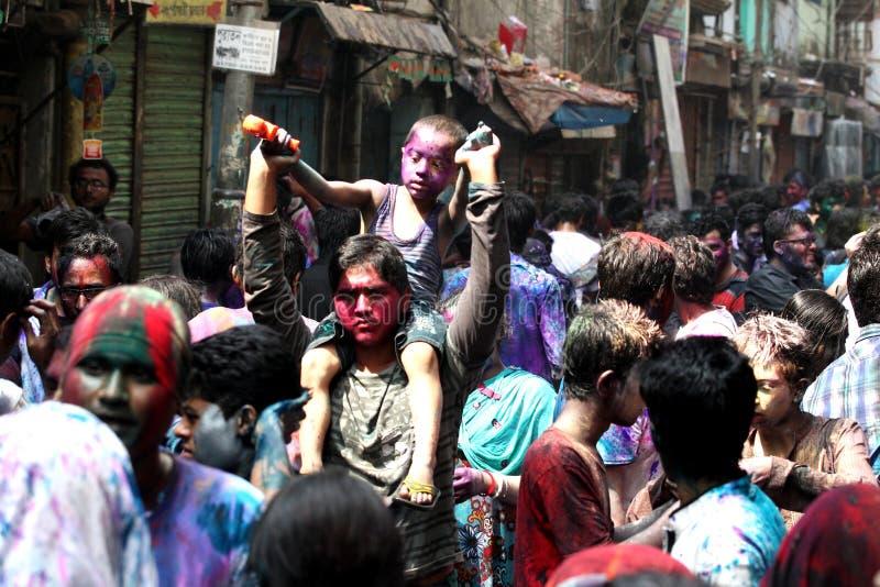Holi van Hindus-Festival royalty-vrije stock afbeelding