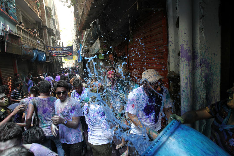Holi van Hindus-Festival stock foto