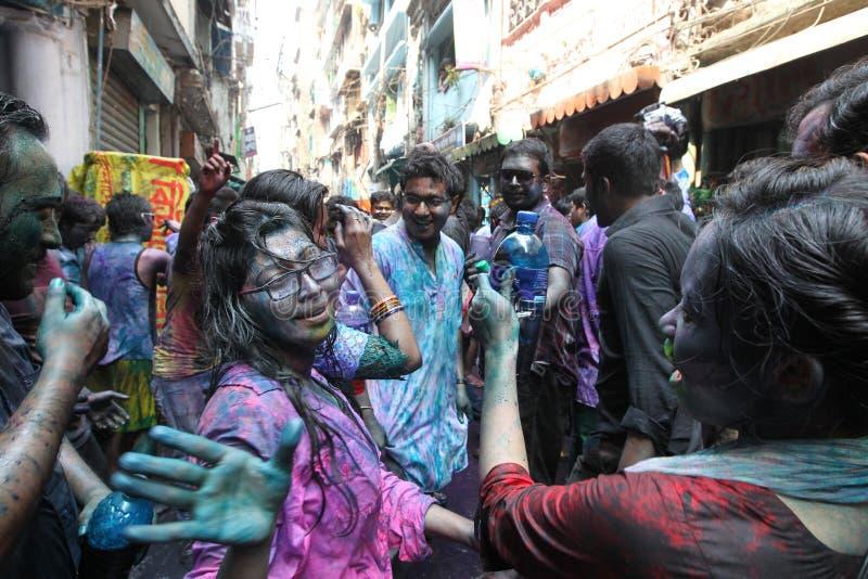 Holi van Hindus-Festival stock afbeeldingen