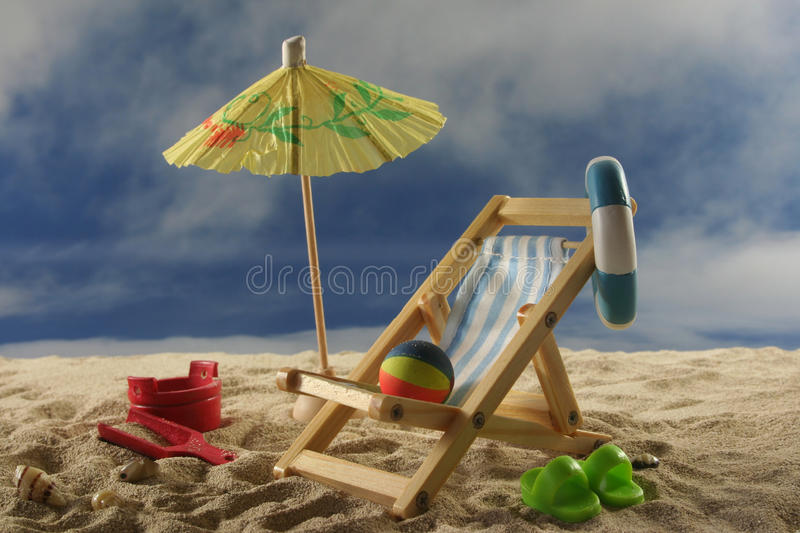 Download Holiday stock photo. Image of lounger, beach, deckchair - 14853884