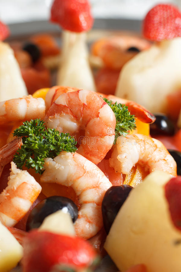Holiday Appetizers on the platter royalty free stock photo