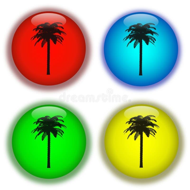 Holiday aqua buttons stock illustration