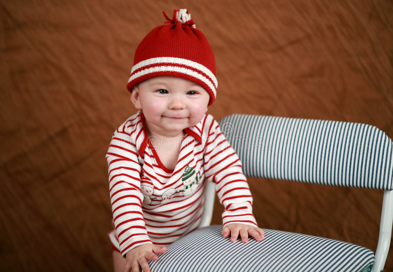 Holiday baby stock photos