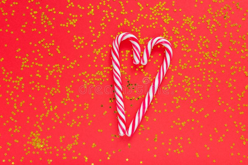 Holiday background with christmas candy cane royalty free stock photos