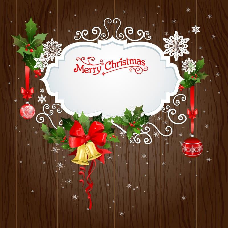 Holiday background with christmas decoration stock illustration