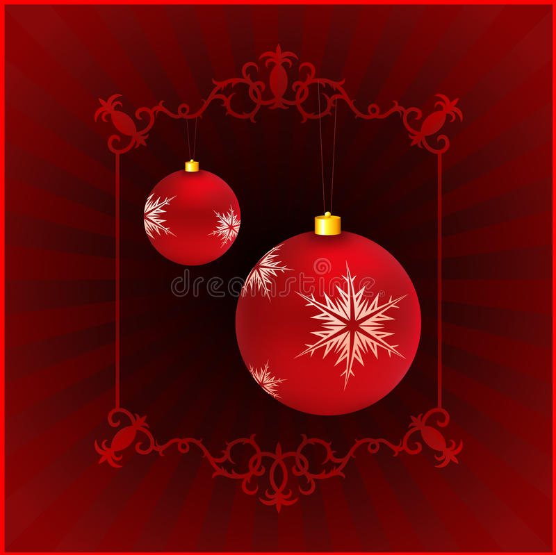 Holiday Background With Christmas Ornament Royalty Free Stock Image