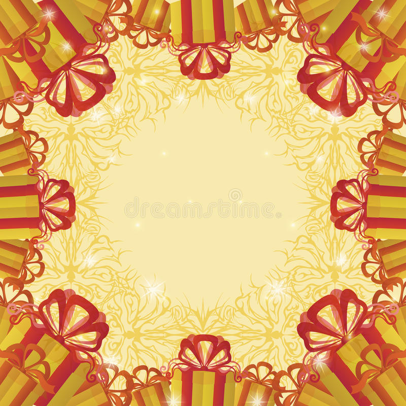 Holiday background with gift boxes royalty free illustration