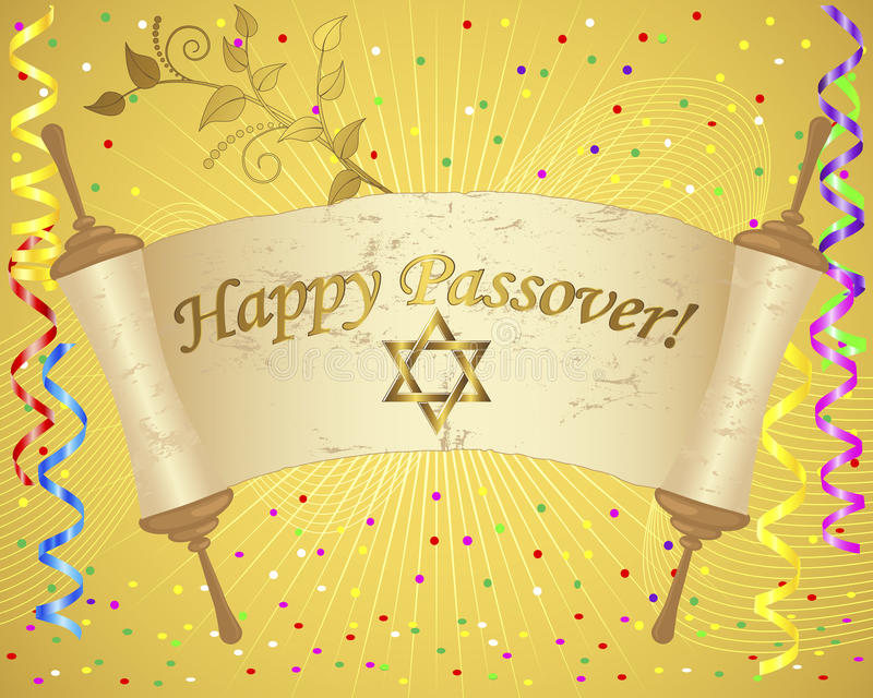 Holiday background of jewish passover. vector illustration