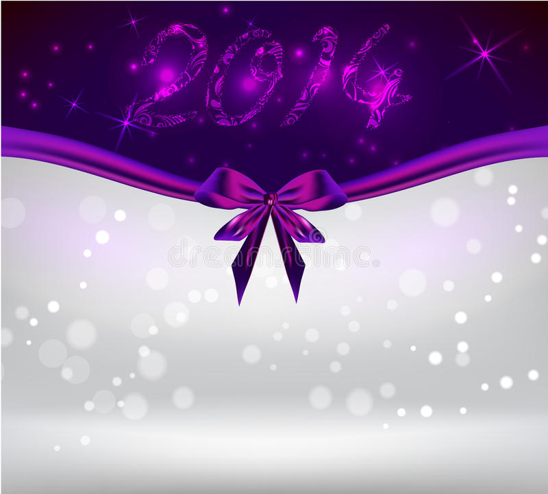 Download Holiday Background With Purple Bow Ribbon Stock Vector - Image: 35594511