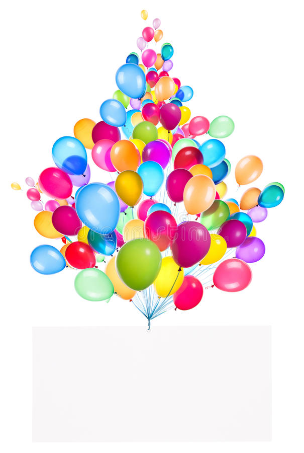 Download Holiday Banners With Colorful Balloons Stock Image - Image of colorful, banner: 38316963