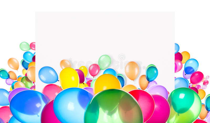 Download Holiday Banners With Colorful Balloons Stock Image - Image: 38317005