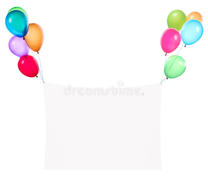 Download Holiday Banners With Colorful Balloons Stock Photo - Image: 38318100