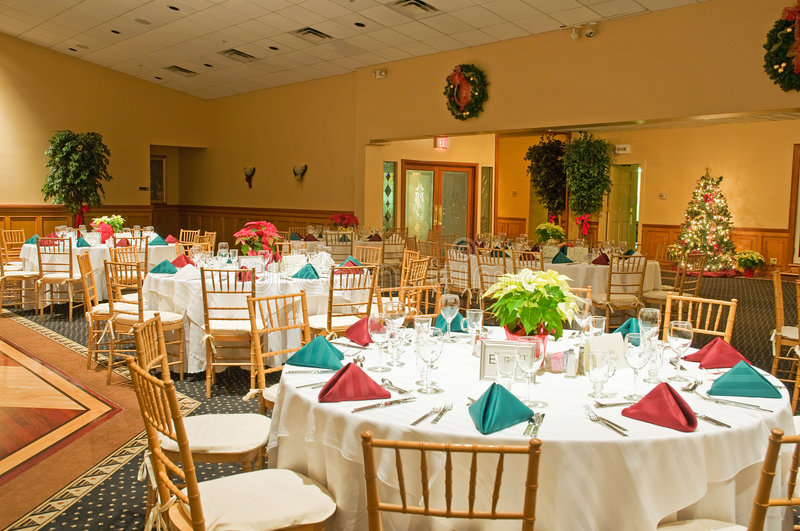 Download Holiday banquet tables stock photo. Image of catering - 7450046