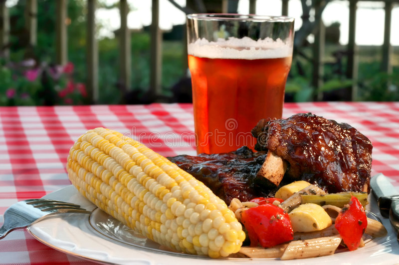 Holiday BBQ Royalty Free Stock Photography