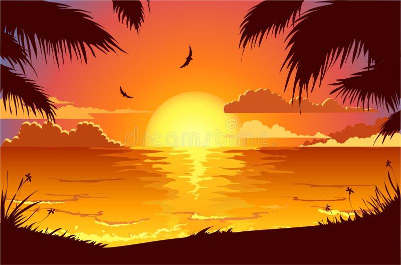 Holiday beach royalty free illustration