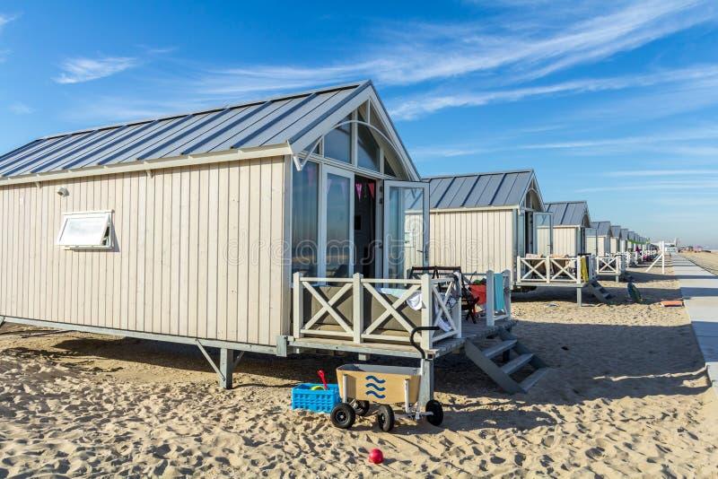 Holiday beach huts royalty free stock images