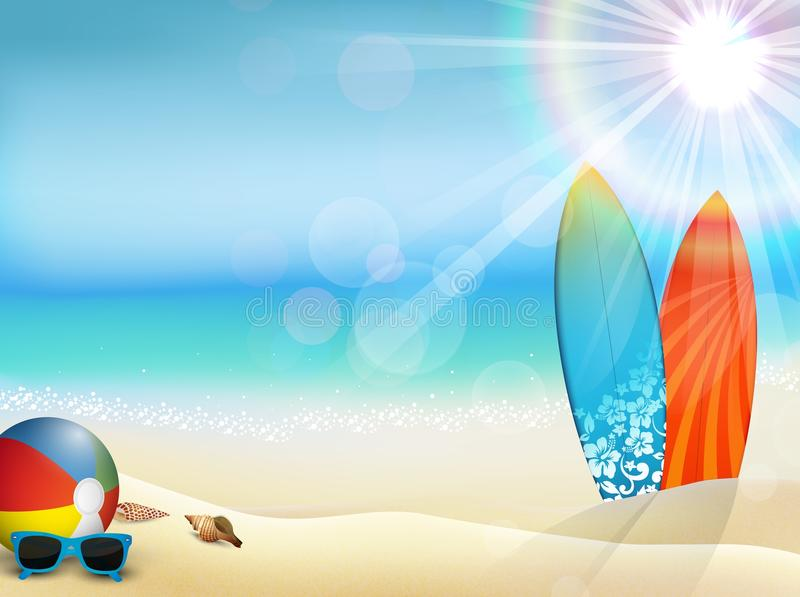 Holiday in beach on the summer royalty free illustration