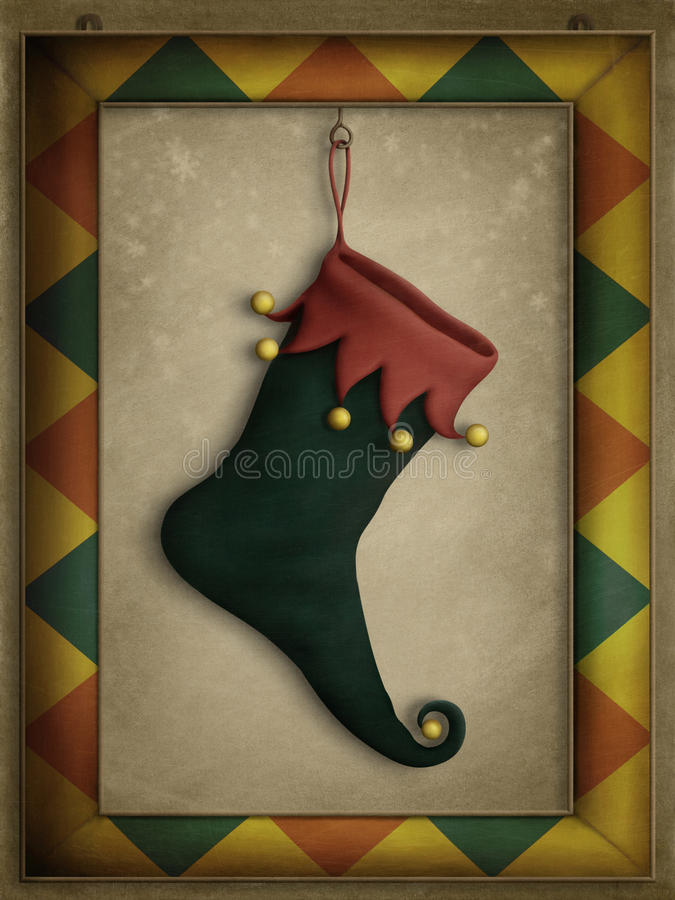 Holiday boots vector illustration