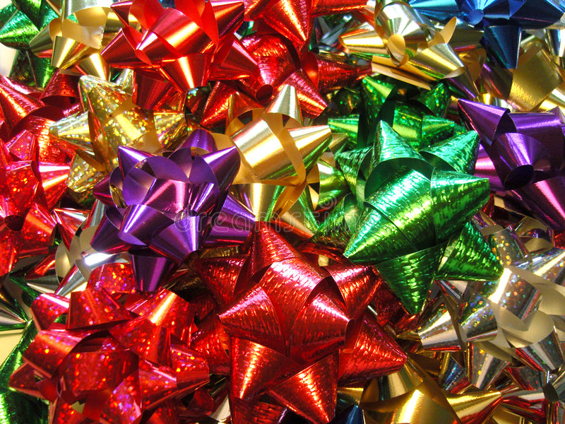 Holiday Bows 12 stock image