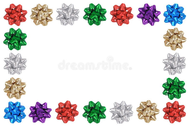 Download Holiday Bows Frame stock photo. Image of copy, color - 15424944
