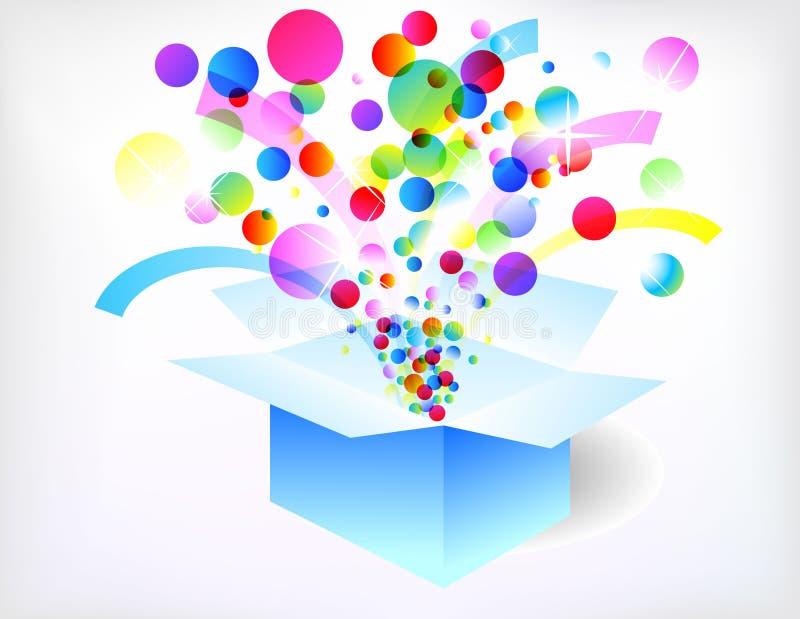 Holiday box vector illustration
