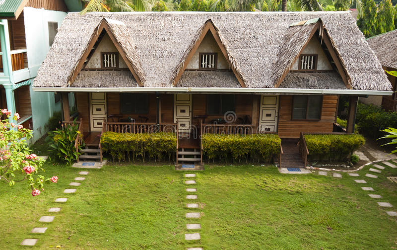 Download Holiday Cabins stock image. Image of path, residence - 25426205