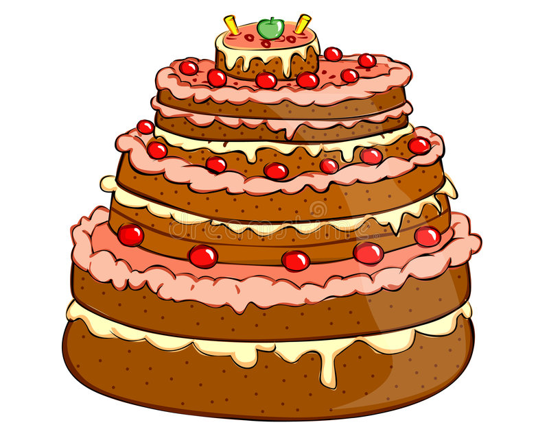 Holiday cakes stock illustration