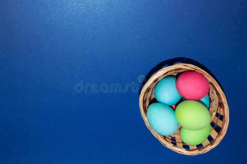Holiday card for Easter, template, banner, copy Space.  royalty free stock photography