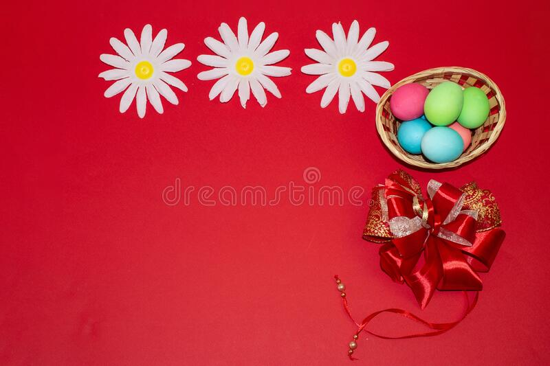 Holiday card for Easter, template, banner, copy Space.  royalty free stock photo