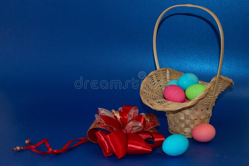 Holiday card for Easter, template, banner, copy Space.  stock image